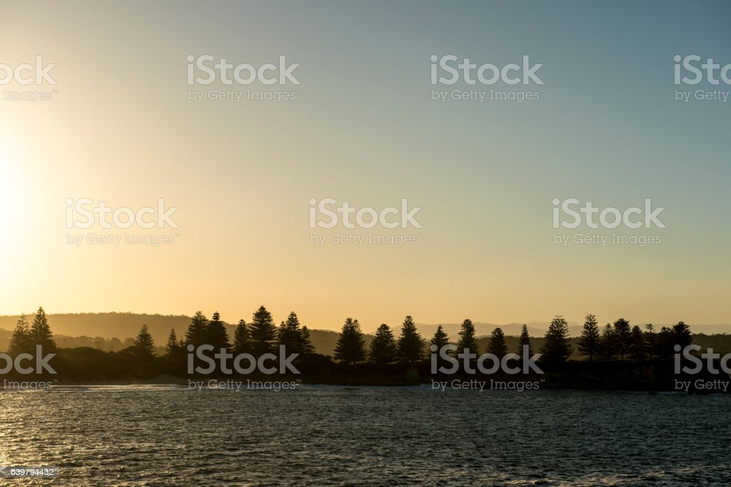Beautiful lanscape of bermagui in Australia stock photo