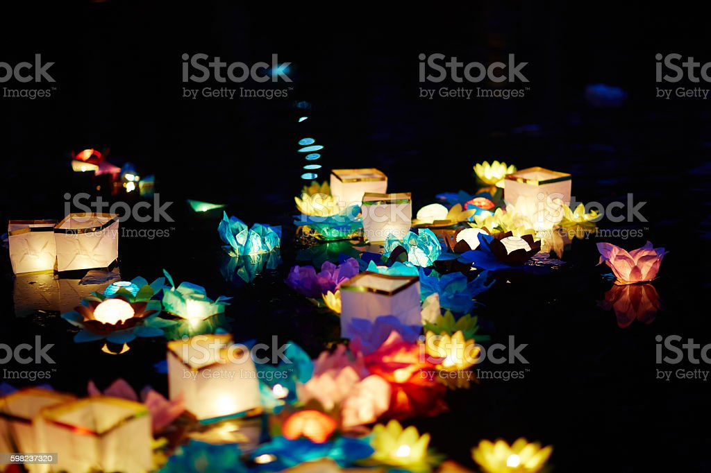 Beautiful lantern ceremony stock photo