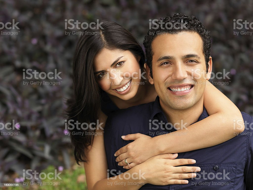 Beautiful latin couple royalty-free stock photo