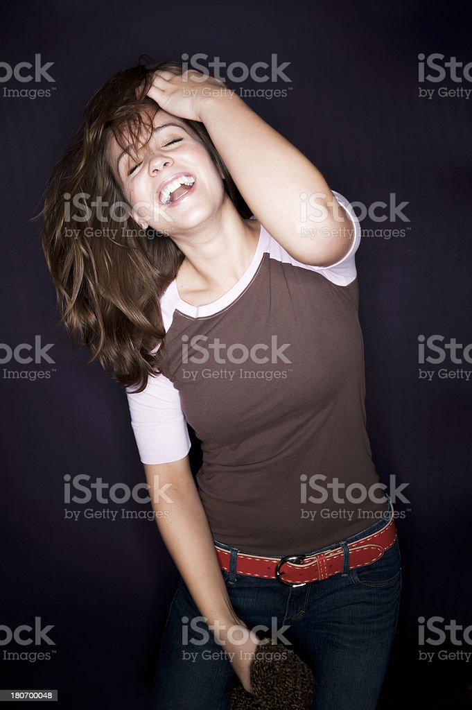 Beautiful Laughing Woman royalty-free stock photo