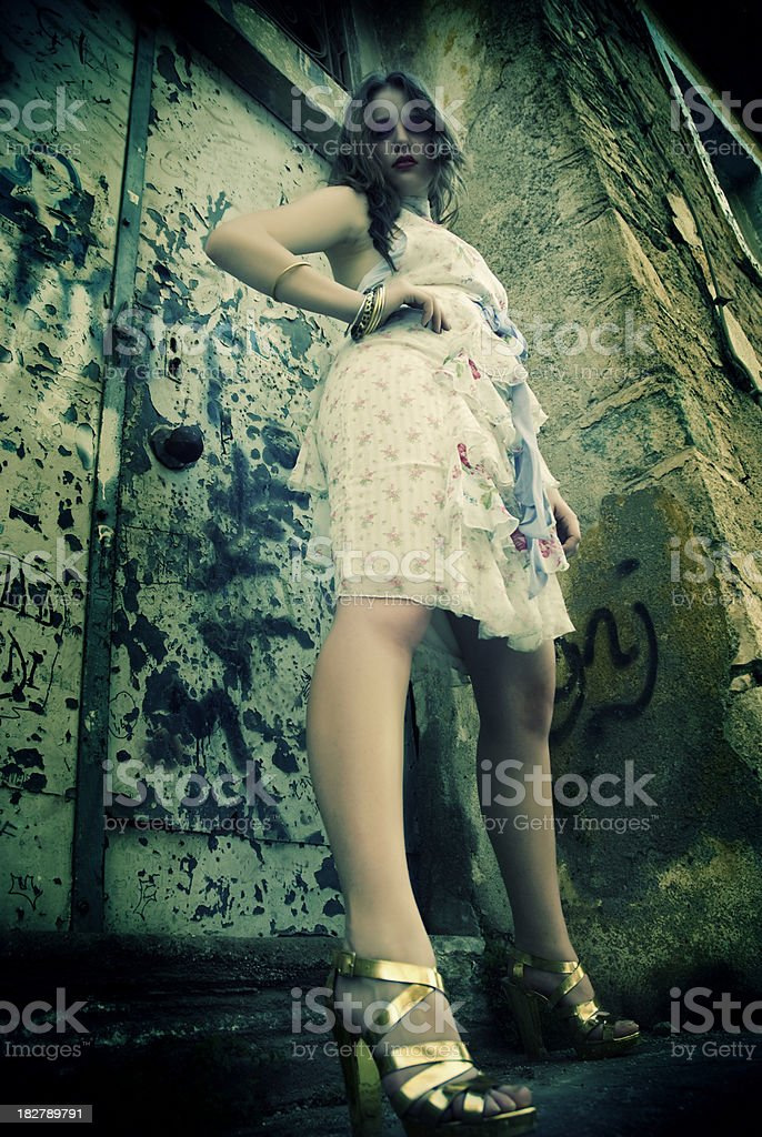 Beautiful Legs of young woman royalty-free stock photo