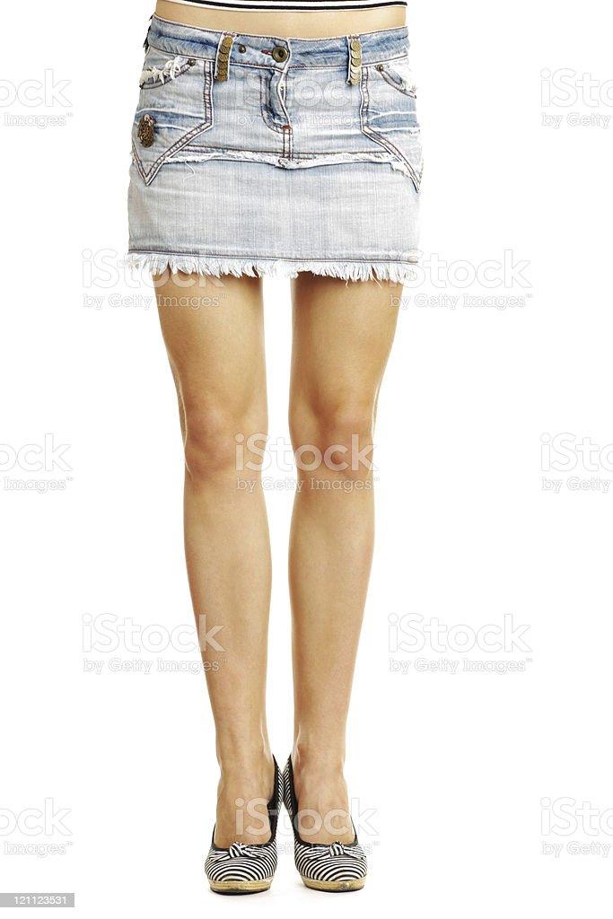 Beautiful Legs on white background royalty-free stock photo