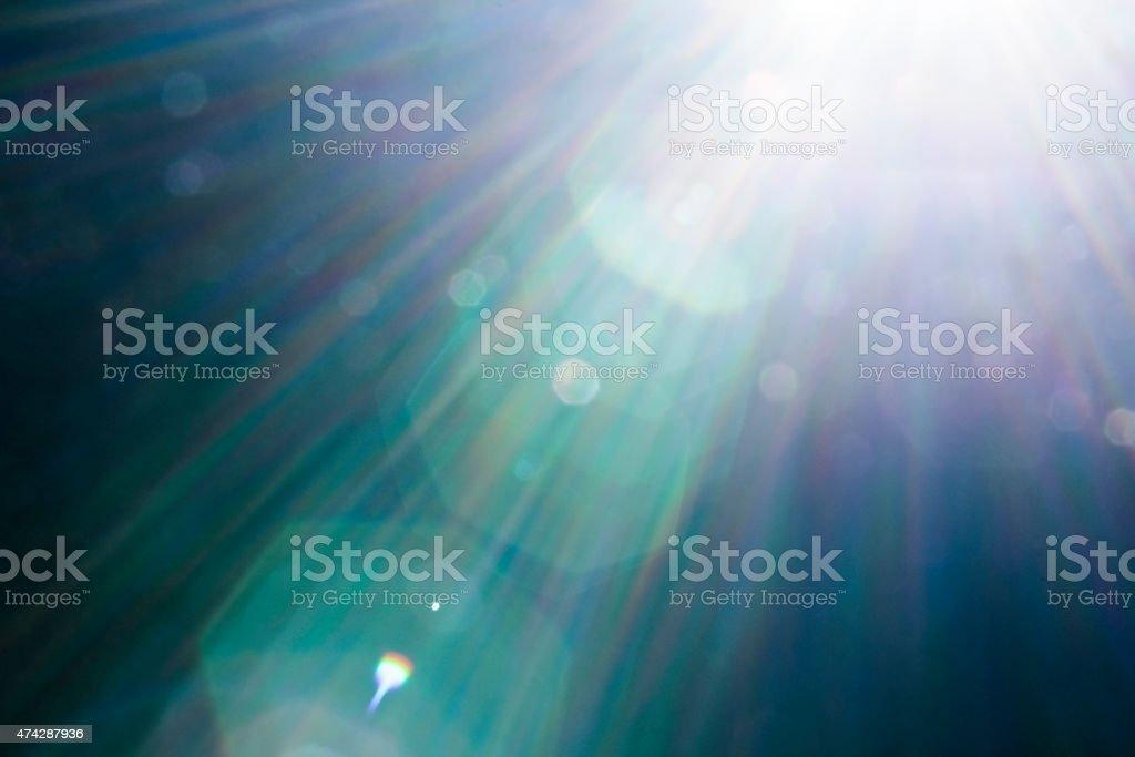 beautiful lensflare stock photo