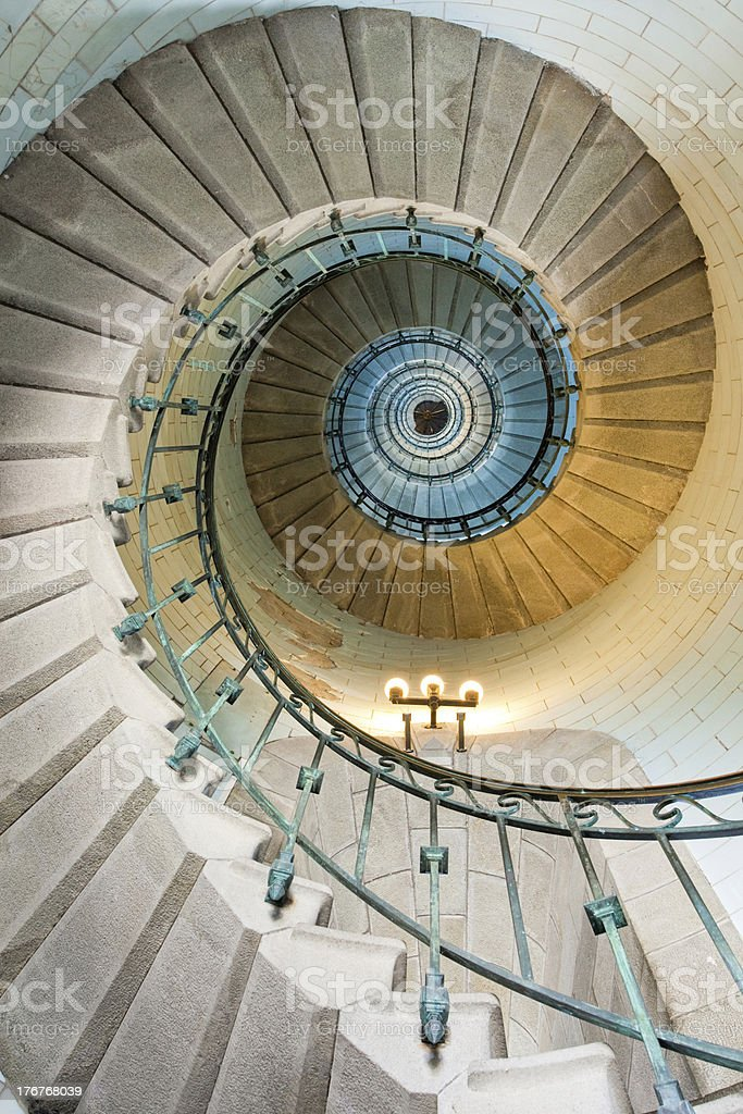 beautiful lighthouse staircase royalty-free stock photo