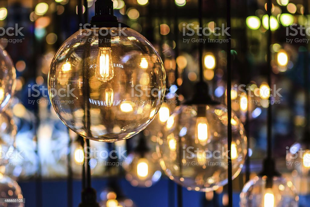 beautiful lighting decor stock photo