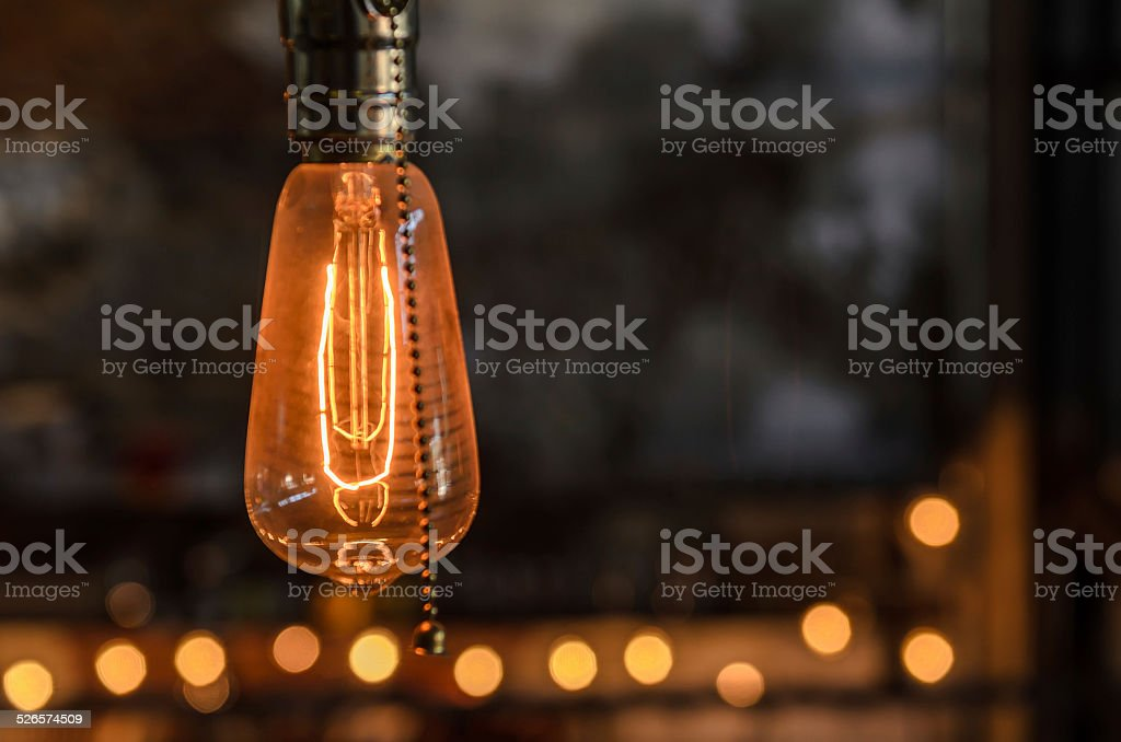 beautiful lighting decor stock photo