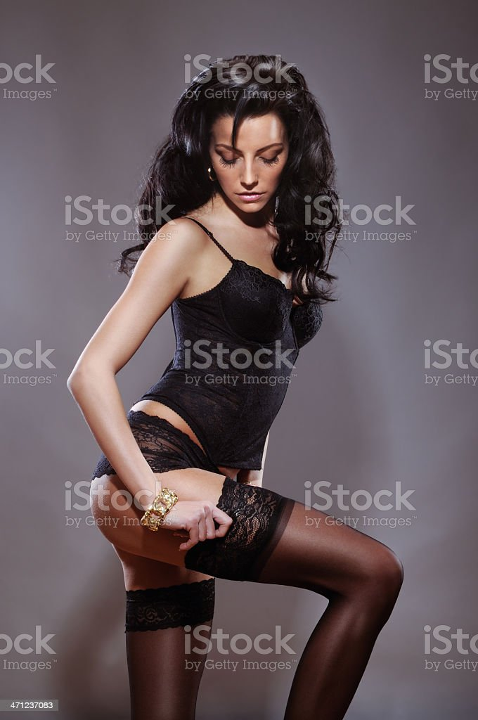 Beautiful Lingerie Model royalty-free stock photo