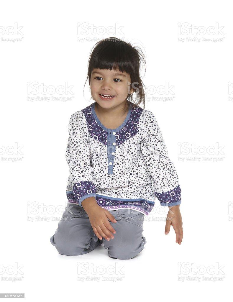 beautiful little baby girl stock photo