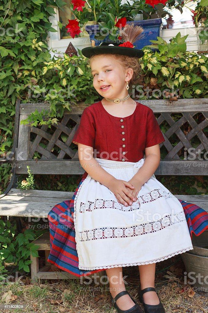 Beautiful little Bavarian girl royalty-free stock photo