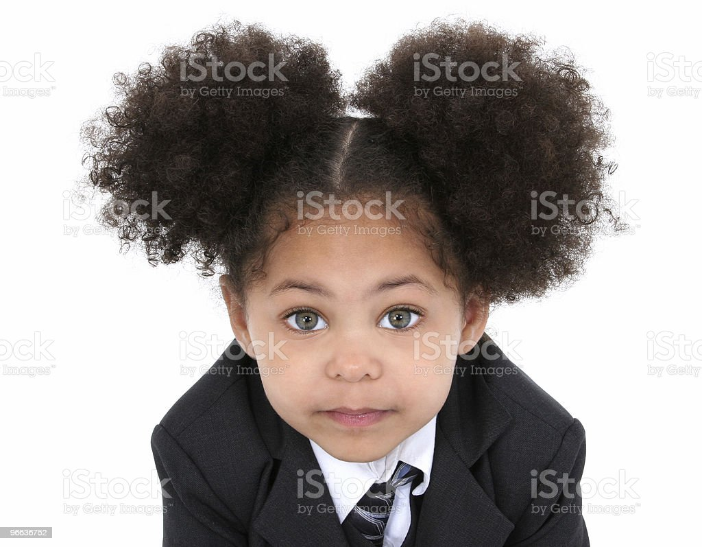 Beautiful Little Business Woman In Jacket And Tie royalty-free stock photo