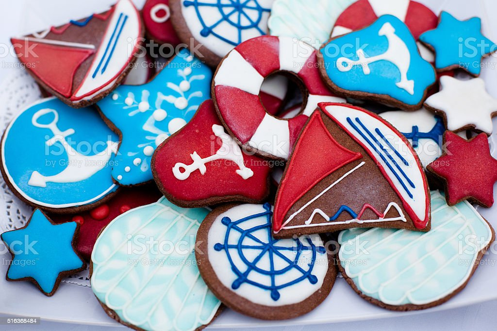 beautiful little cookies stock photo