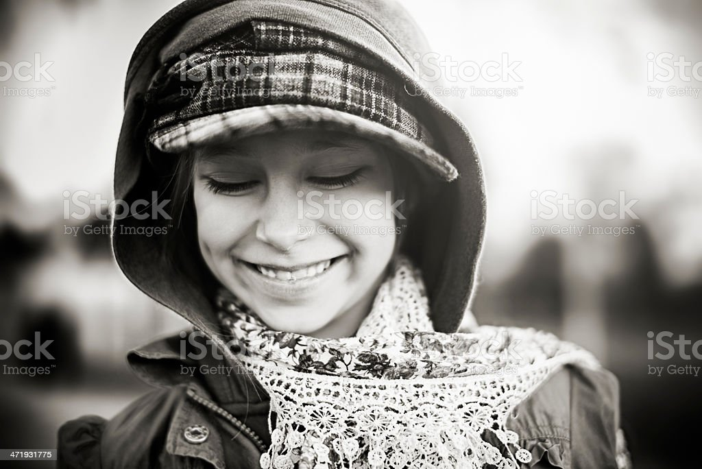 Beautiful  little girl laughing royalty-free stock photo