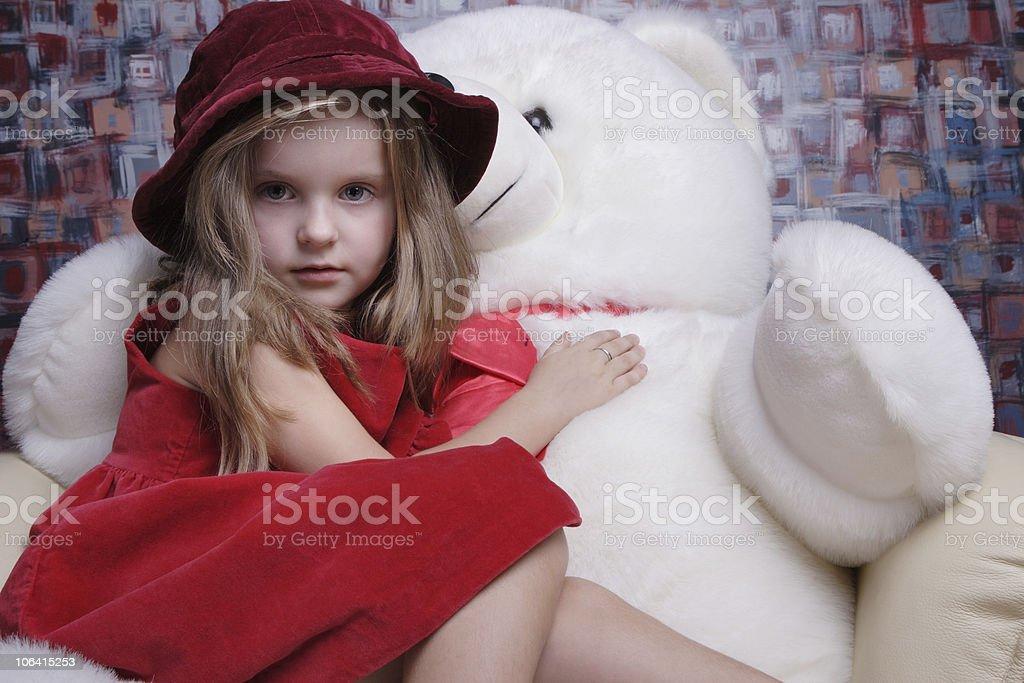 Beautiful little girl. stock photo