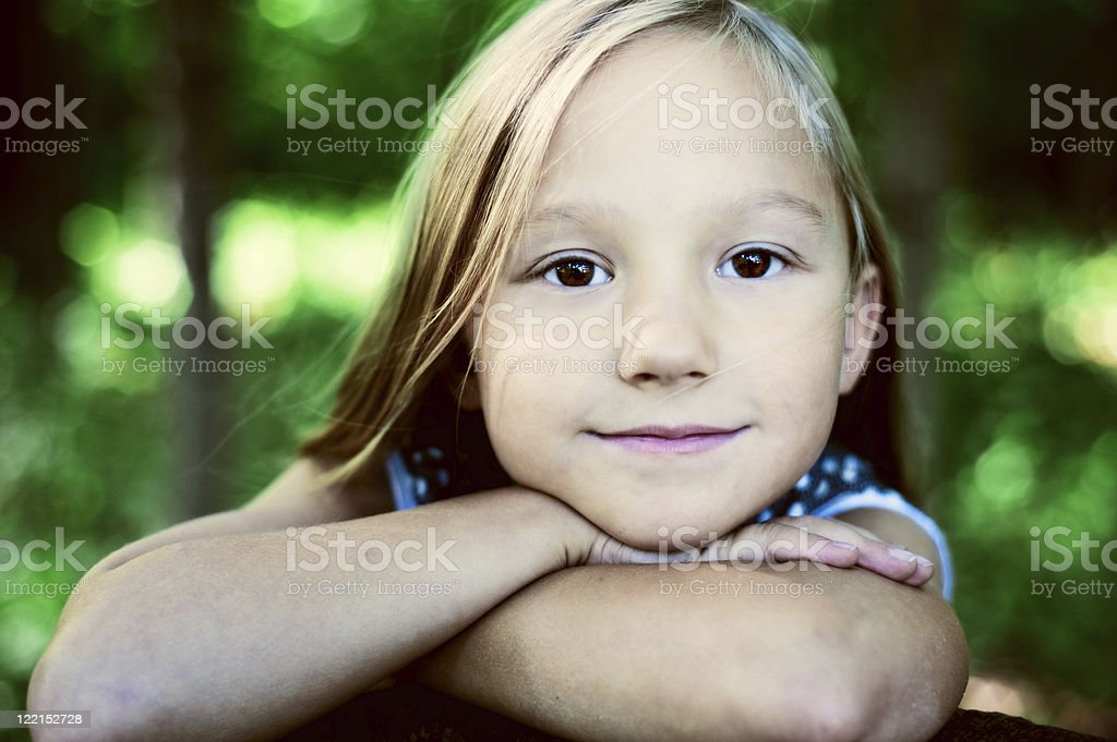 Beautiful little girl royalty-free stock photo