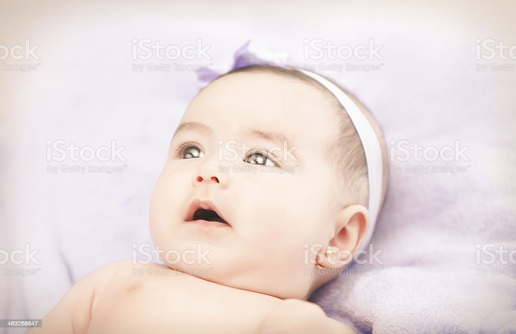 Beautiful little girl stock photo