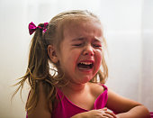 beautiful little girl, showing emotions, crying, offended Princess