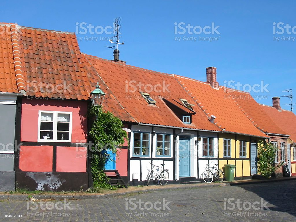 beautiful little houses royalty-free stock photo