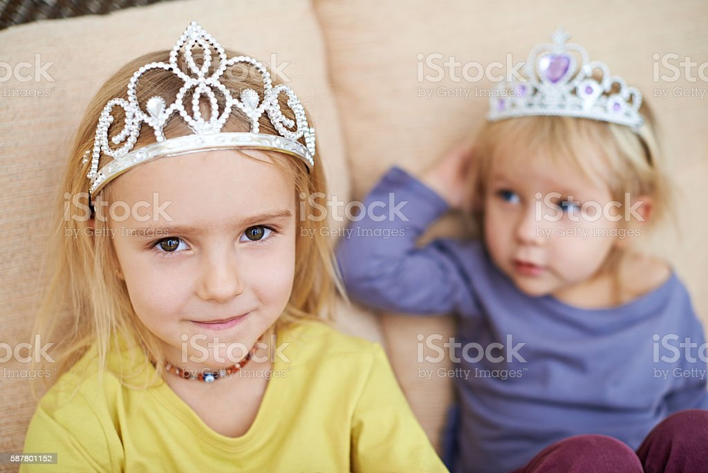 Beautiful little princess stock photo