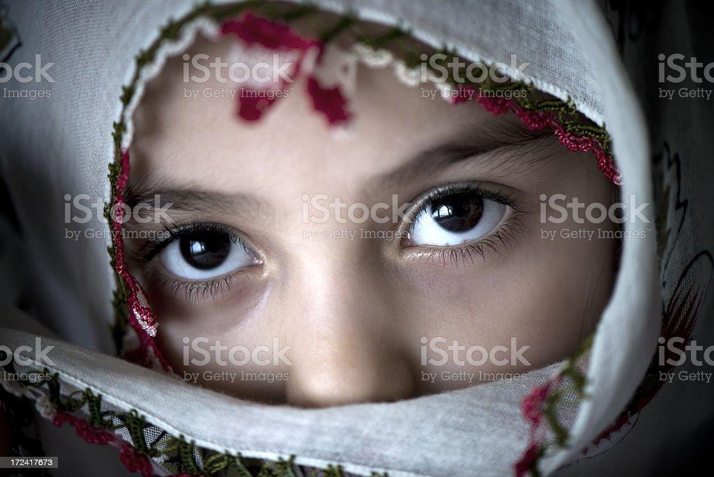 Beautiful Little Turkish girl royalty-free stock photo