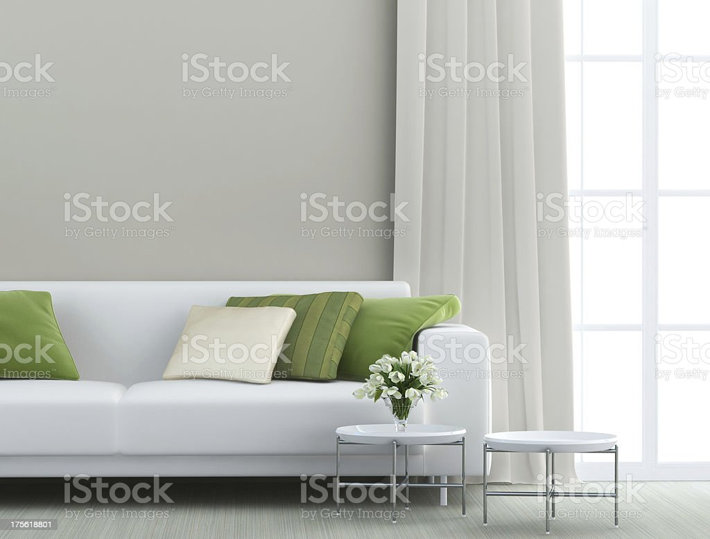 beautiful living room stock photo
