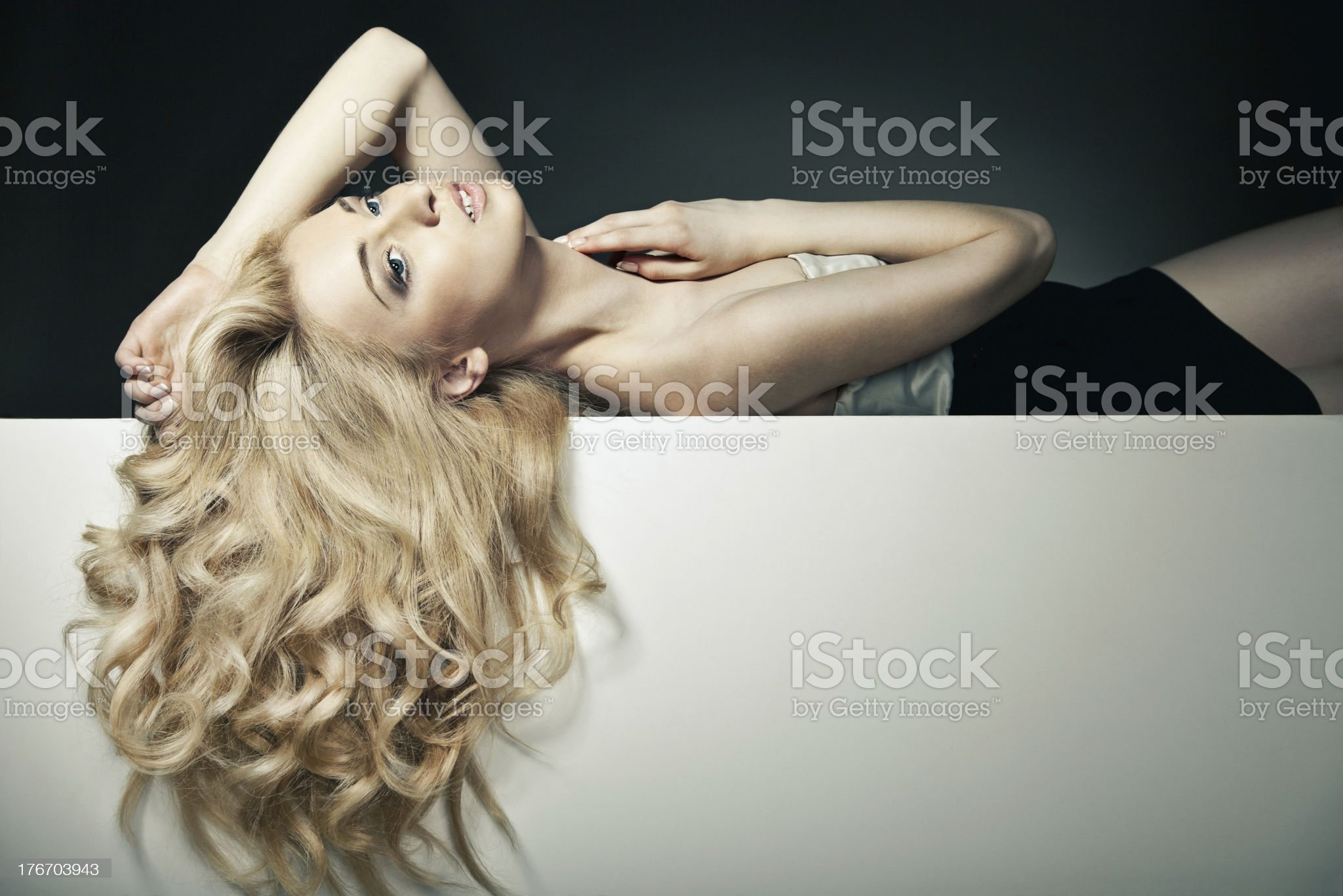 Beautiful Long Hair on an Attractive Woman royalty-free stock photo
