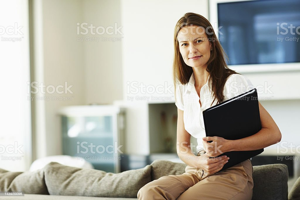 Beautiful looking businesswoman royalty-free stock photo