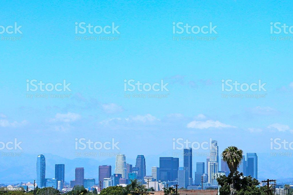 Beautiful Los Angeles California Skyline stock photo