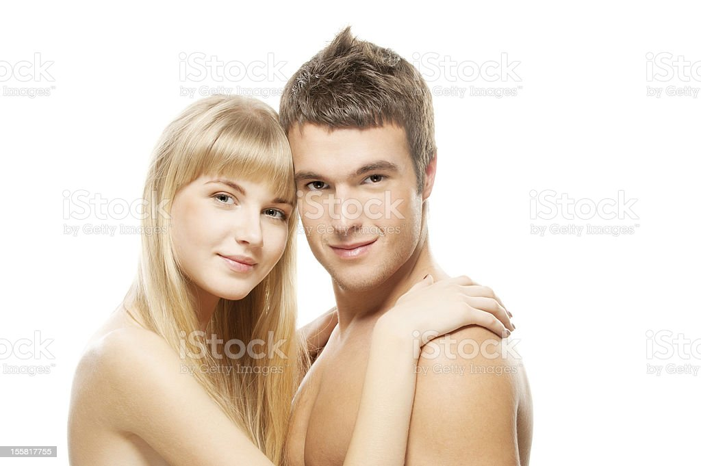 beautiful loving couple royalty-free stock photo