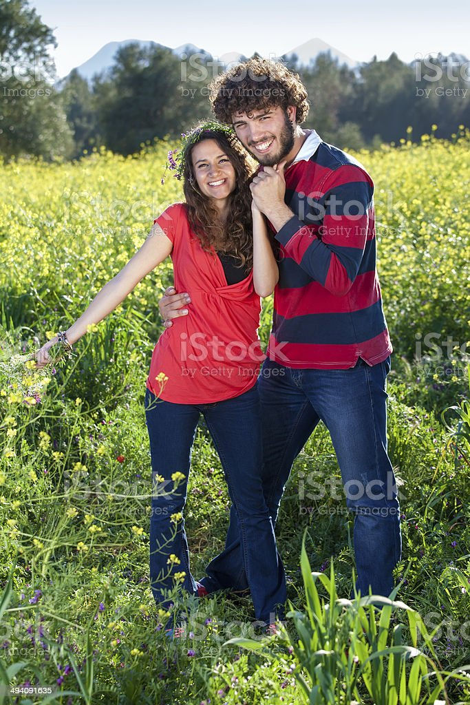 Beautiful loving young couple. royalty-free stock photo