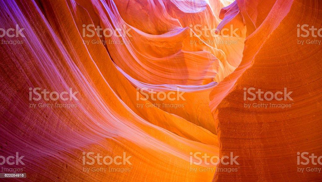 beautiful Lower Antelope Canyon stock photo