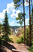 Beautiful Lower Falls, Yellowstone National Park