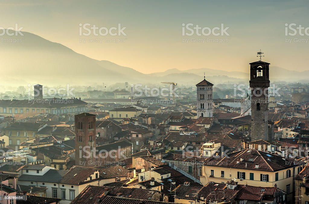 Beautiful Lucca, Italy stock photo