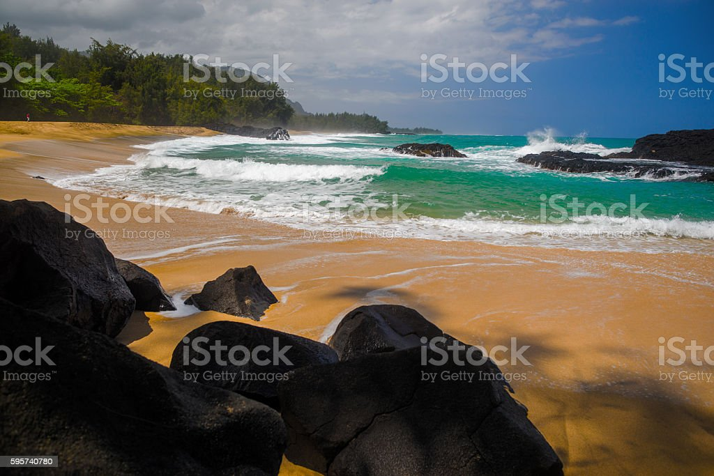 beautiful lumahi beach stock photo