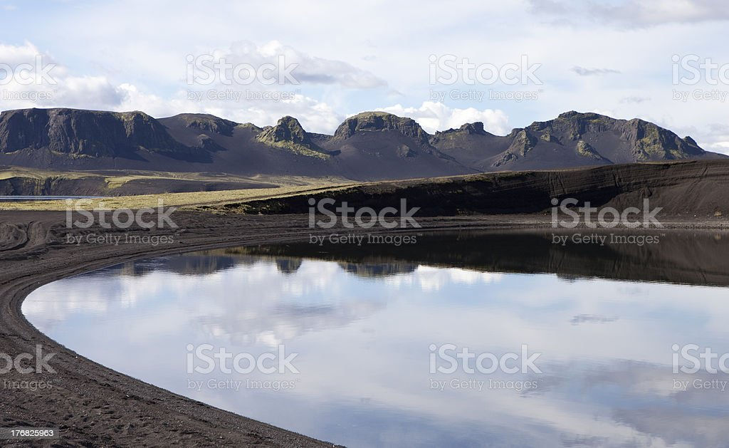 'Beautiful lunar landscapes. Montain, Reflection, Lake in Iceland' stock photo