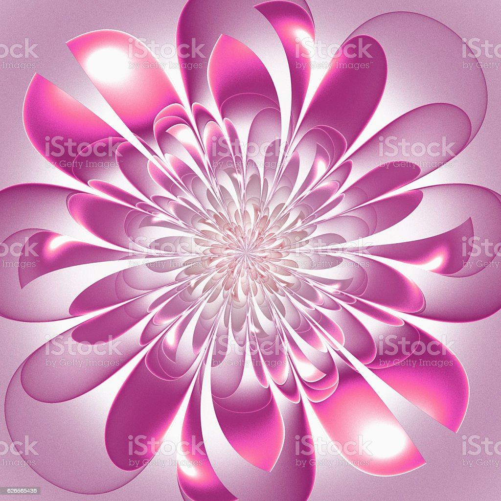 Beautiful lush fractal flower. Artwork for creative design, art stock photo