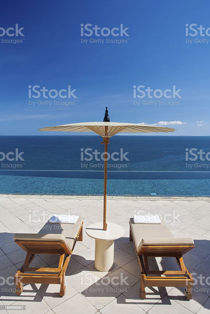 Beautiful luxury pool royalty-free stock photo
