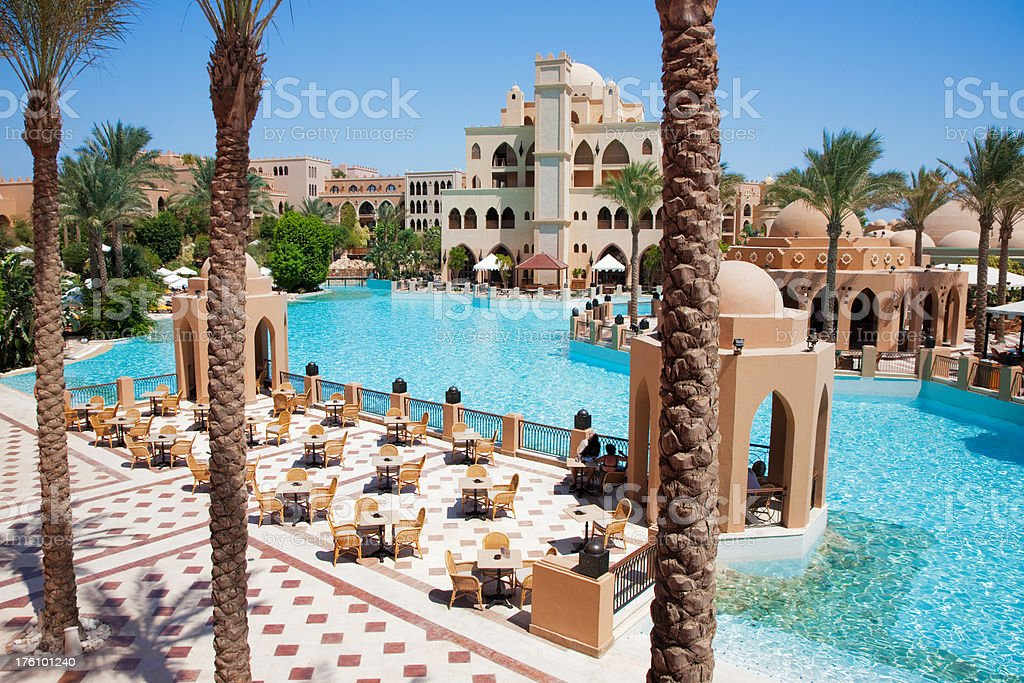 Beautiful Luxury Tourist Resort Hotel stock photo