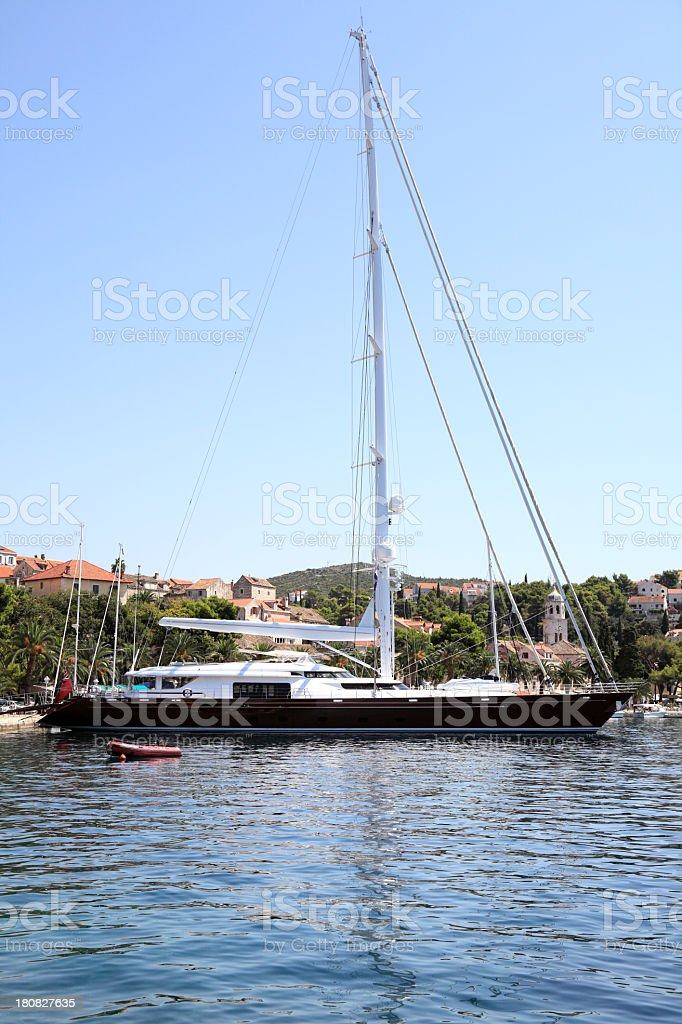 Beautiful luxury yacht royalty-free stock photo