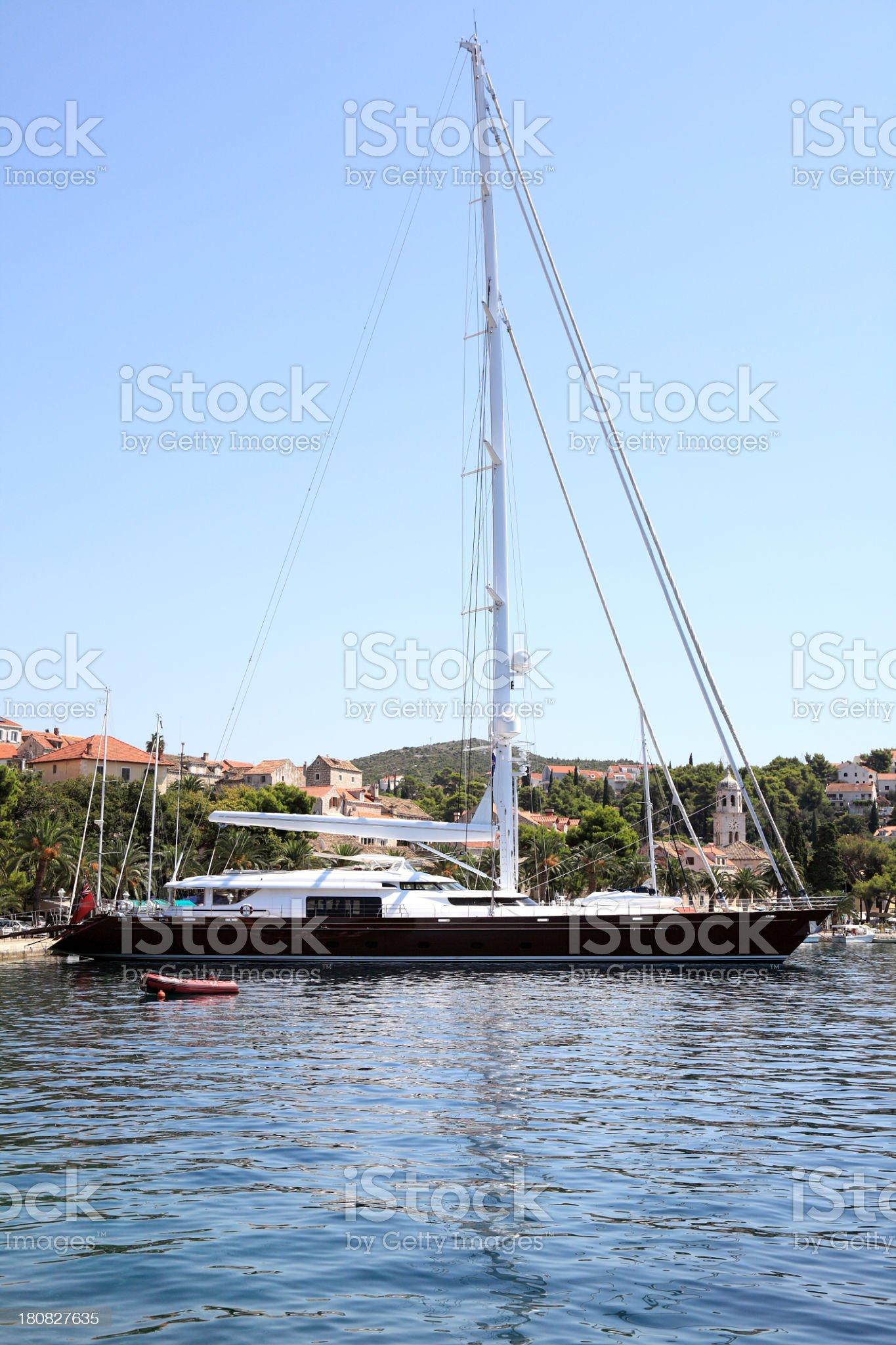 Beautiful luxury yacht royalty-free stock photo