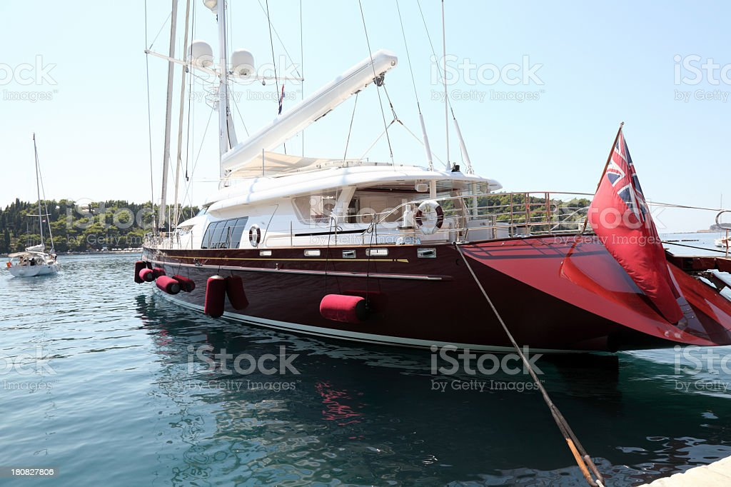 Beautiful luxury yacht stock photo