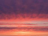 beautiful magenta and orange sky at sundown