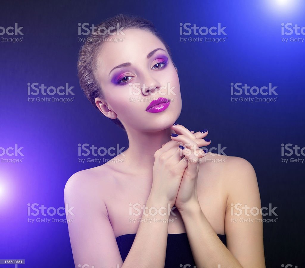 beautiful make-up royalty-free stock photo