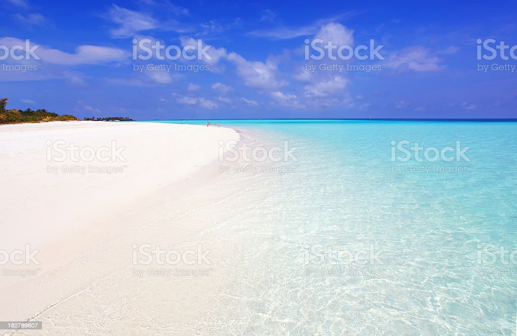 Beautiful Maldives seascape. royalty-free stock photo