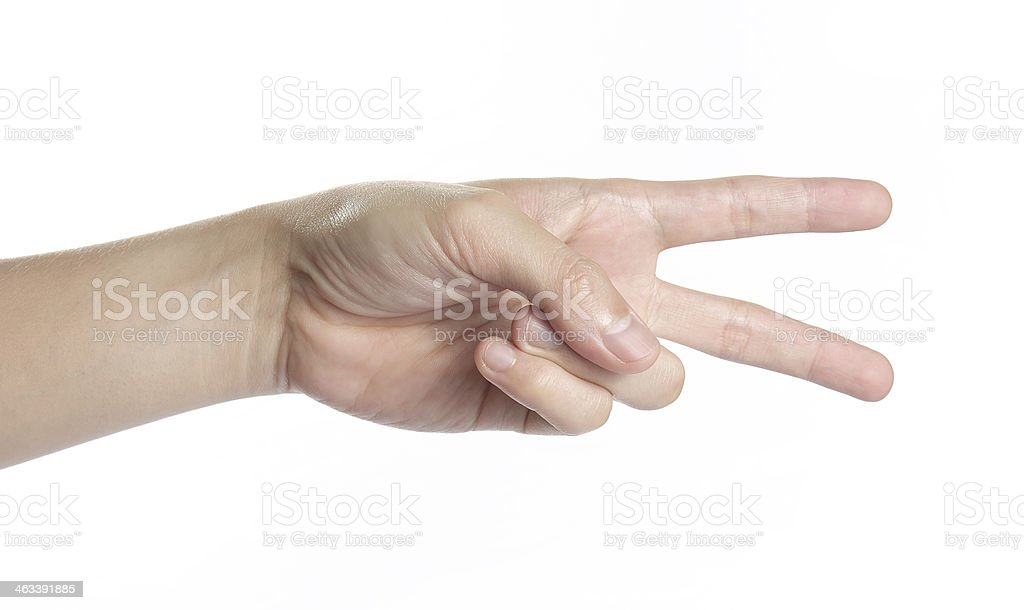 beautiful man hand for fight feeling stock photo