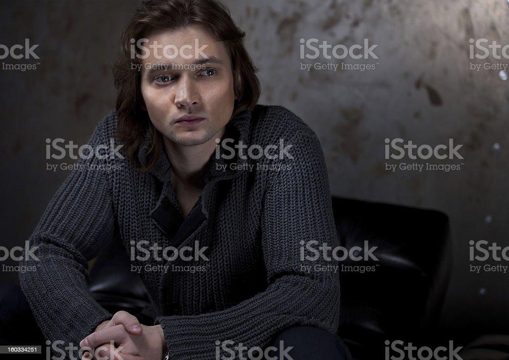 Beautiful man royalty-free stock photo