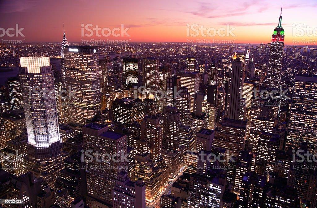 Beautiful Manhattan, New York skyline royalty-free stock photo