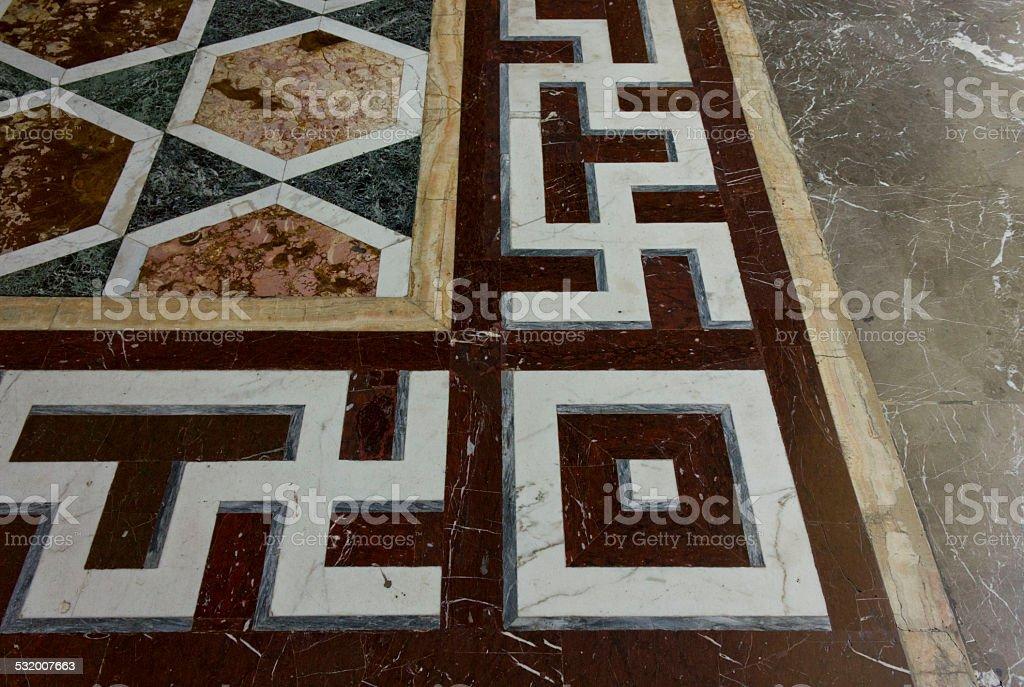 Beautiful marble decorated floor stock photo