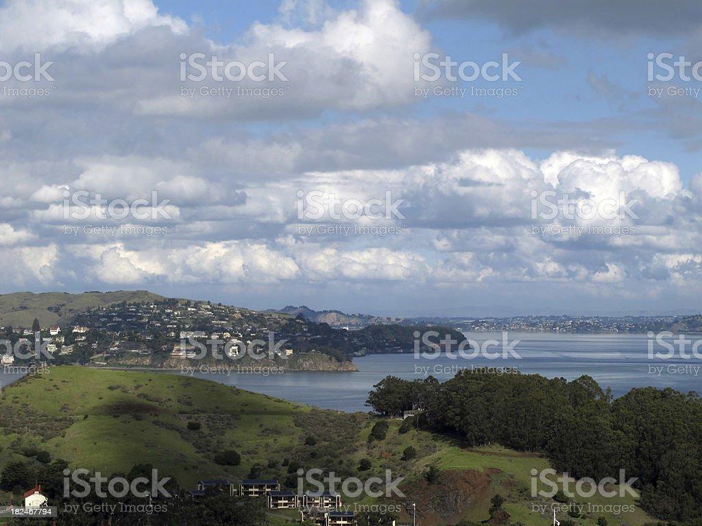 Beautiful Marin County Vista stock photo