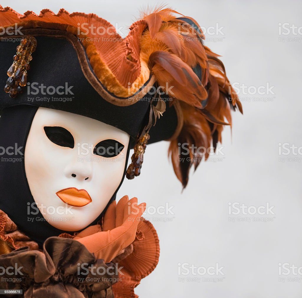 Beautiful mask at Carnival in Venice royalty-free stock photo