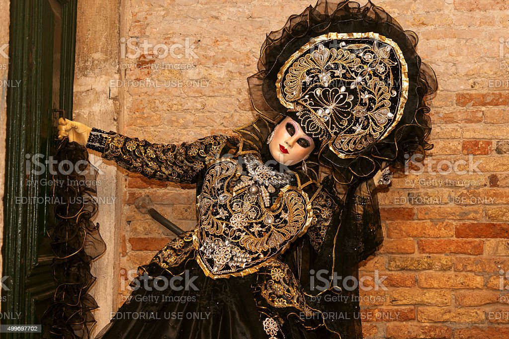 Beautiful mask Venice Carnival VIII,Venice, Italy stock photo